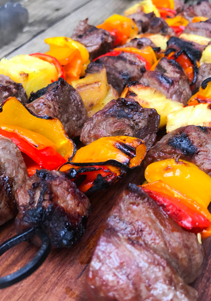 Hawaiian Steak Kabobs by The Whole Cook VERTICAL FEATURE