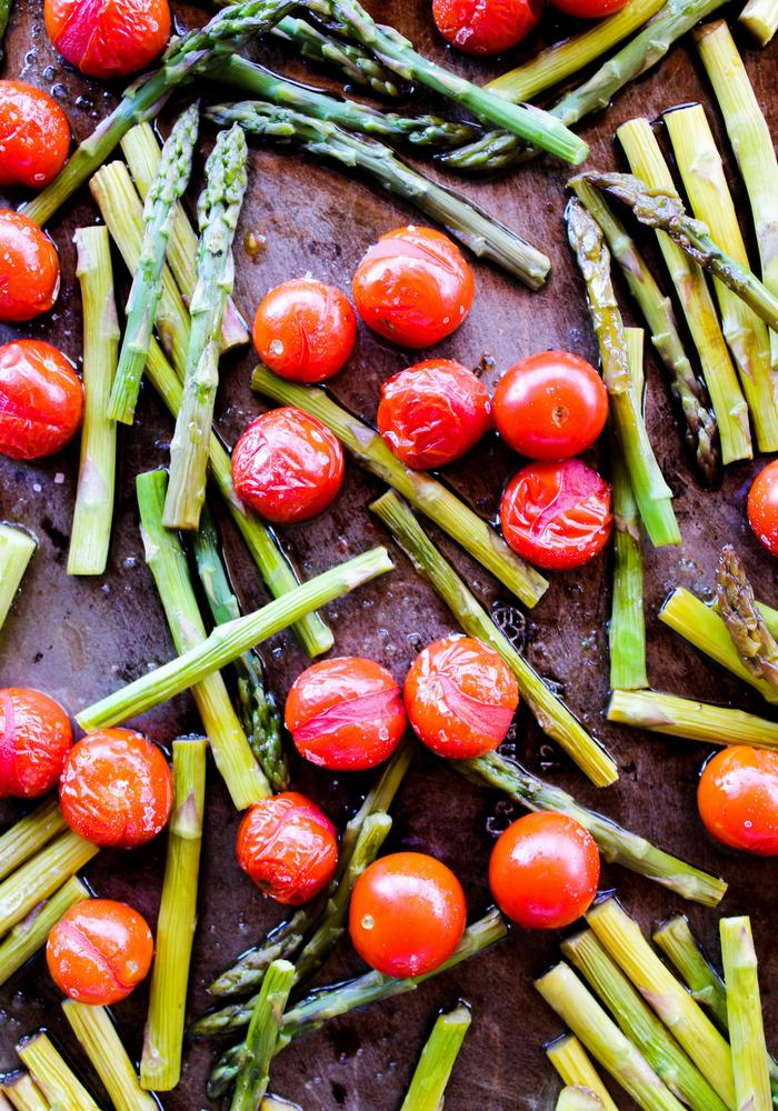 Roasted Balsamic Tomatoes & Asparagus by The Whole Cook vertical