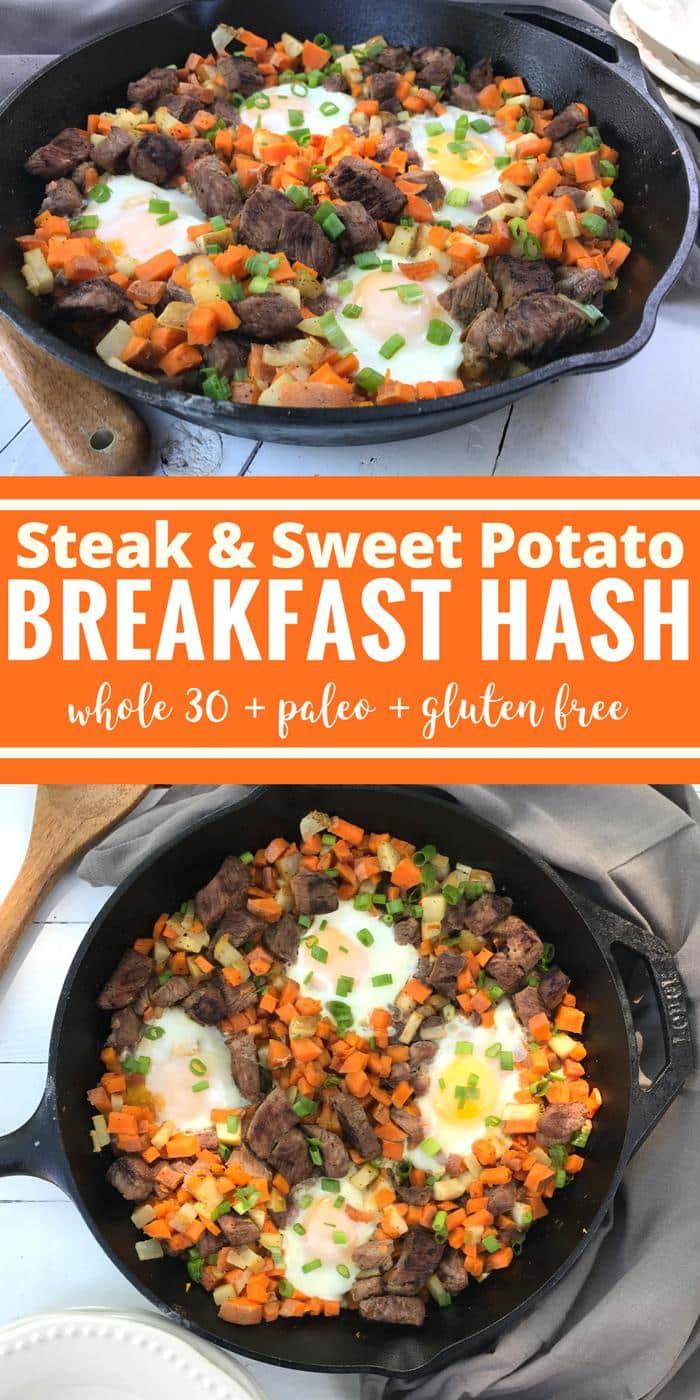 Steak & Sweet Potato Breakfast Hash by The Whole Cook