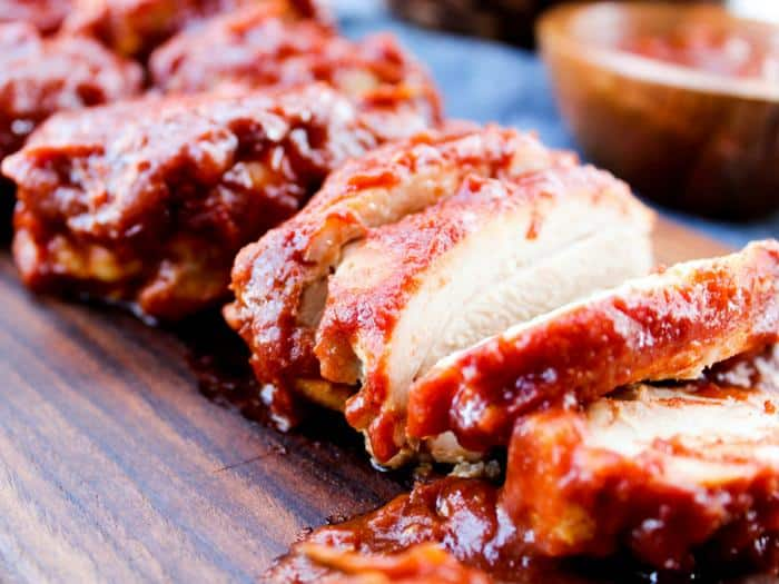 Sugar Free Oven Baked BBQ Chicken by The Whole Cook horizontal