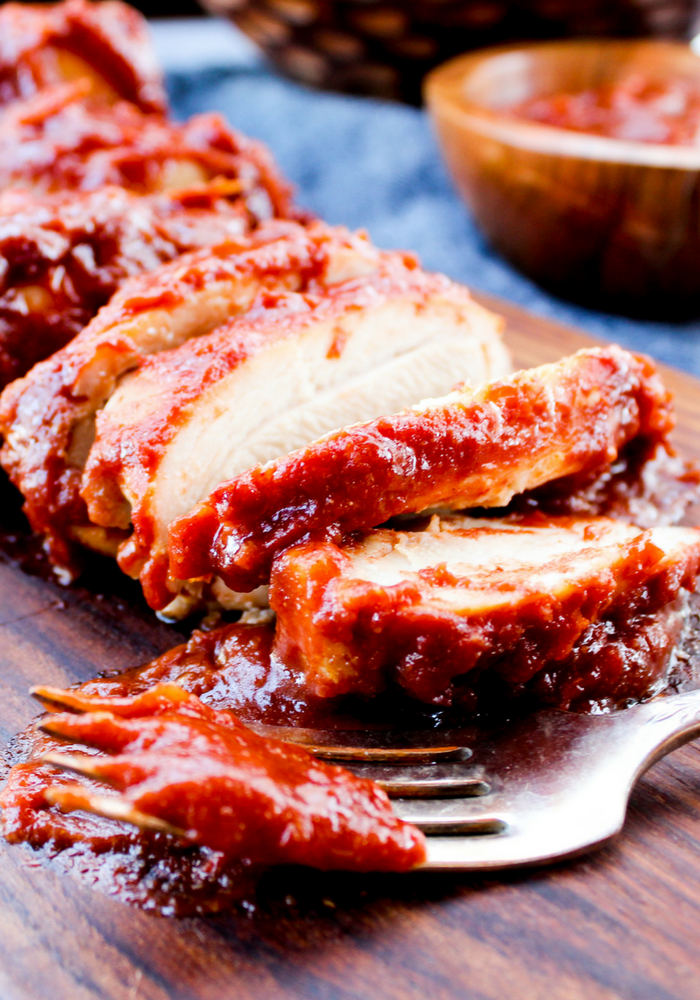 Sugar Free Oven Baked BBQ Chicken by The Whole Cook vertical(1)