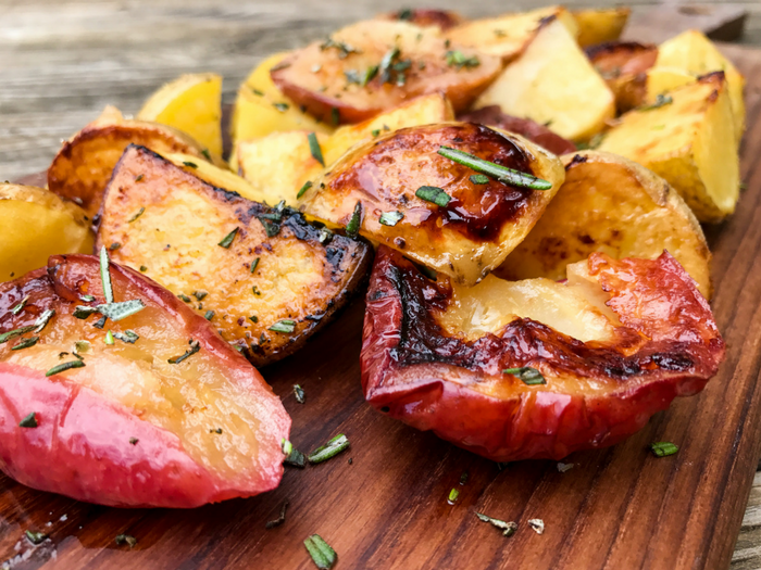 Roasted Apples & Potatoes by The Whole Cook HORIZONTAL FEATURE