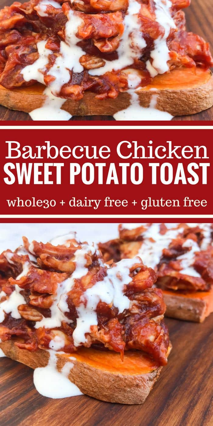 Barbecue Chicken Sweet Potato Toast by The Whole Cook PINTEREST