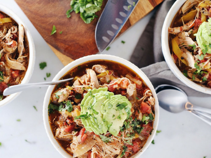 Crockpot Chicken Enchilada Soup by Real Simple Good