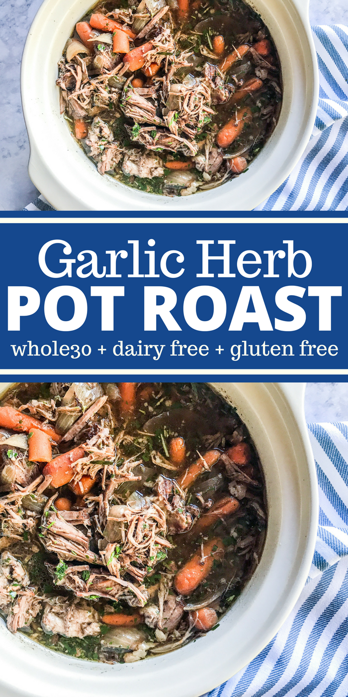 Garlic Herb Pot Roast by The Whole Cook