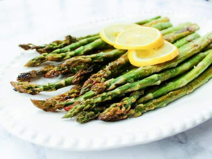 Roasted Lemon Asparagus by The Whole Cook horizontal plated