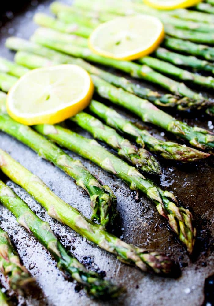 Roasted Lemon Asparagus by The Whole Cook vertical
