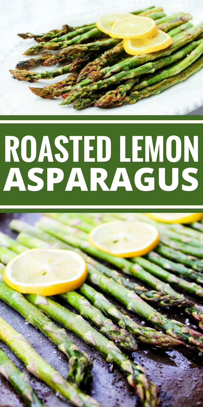 Roasted Lemon Asparagus is a simple side dish you can make in 15 minutes! A delicious addition to any meal! Plus it's Whole30, dairy free, gluten free, vegan, & vegetarian!