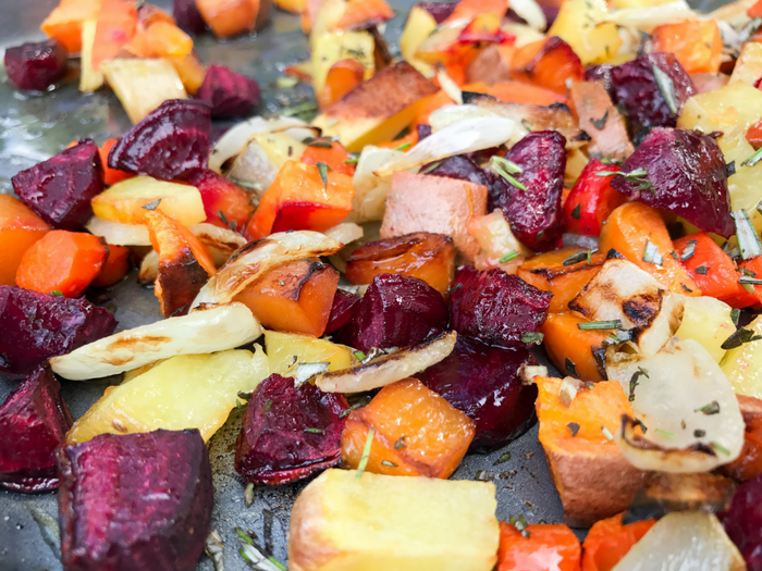 Roasted Rosemary Root Vegetables by The Whole Cook HORIZONTAL FEATURE