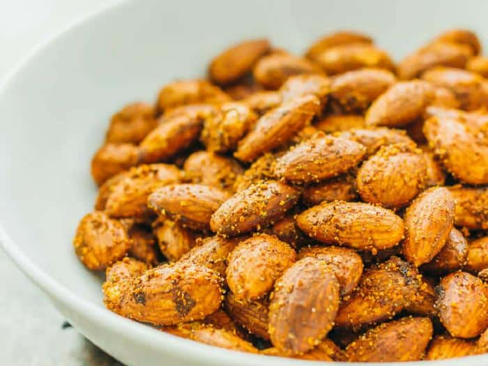 Spicy Smoky Garlic Almonds by Savory Tooth
