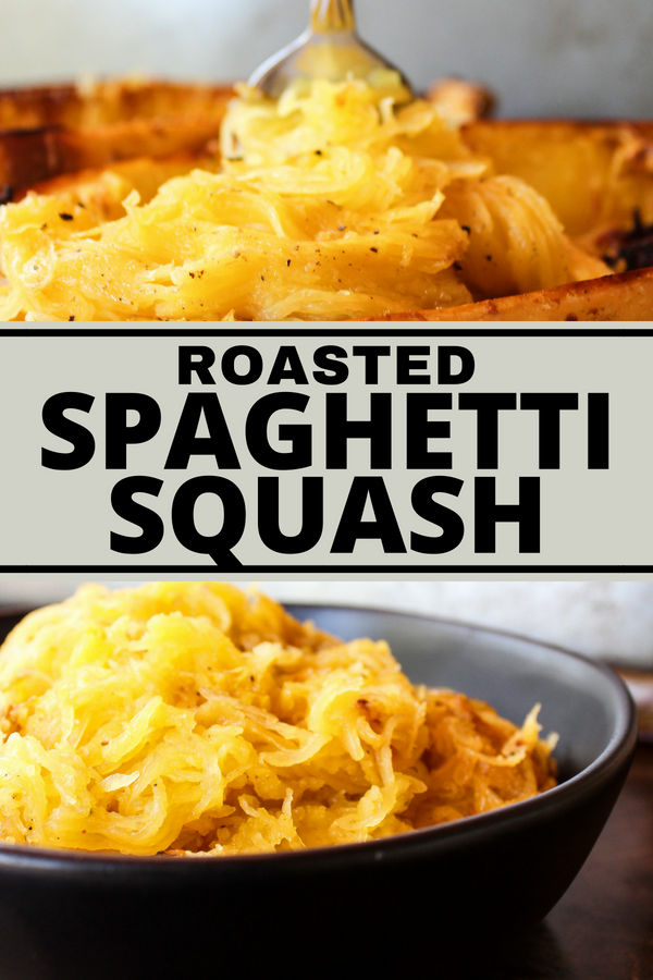 Roasted Spaghetti Squash is the ultimate pasta substitute! It's delicious, good for you, and easy to make!