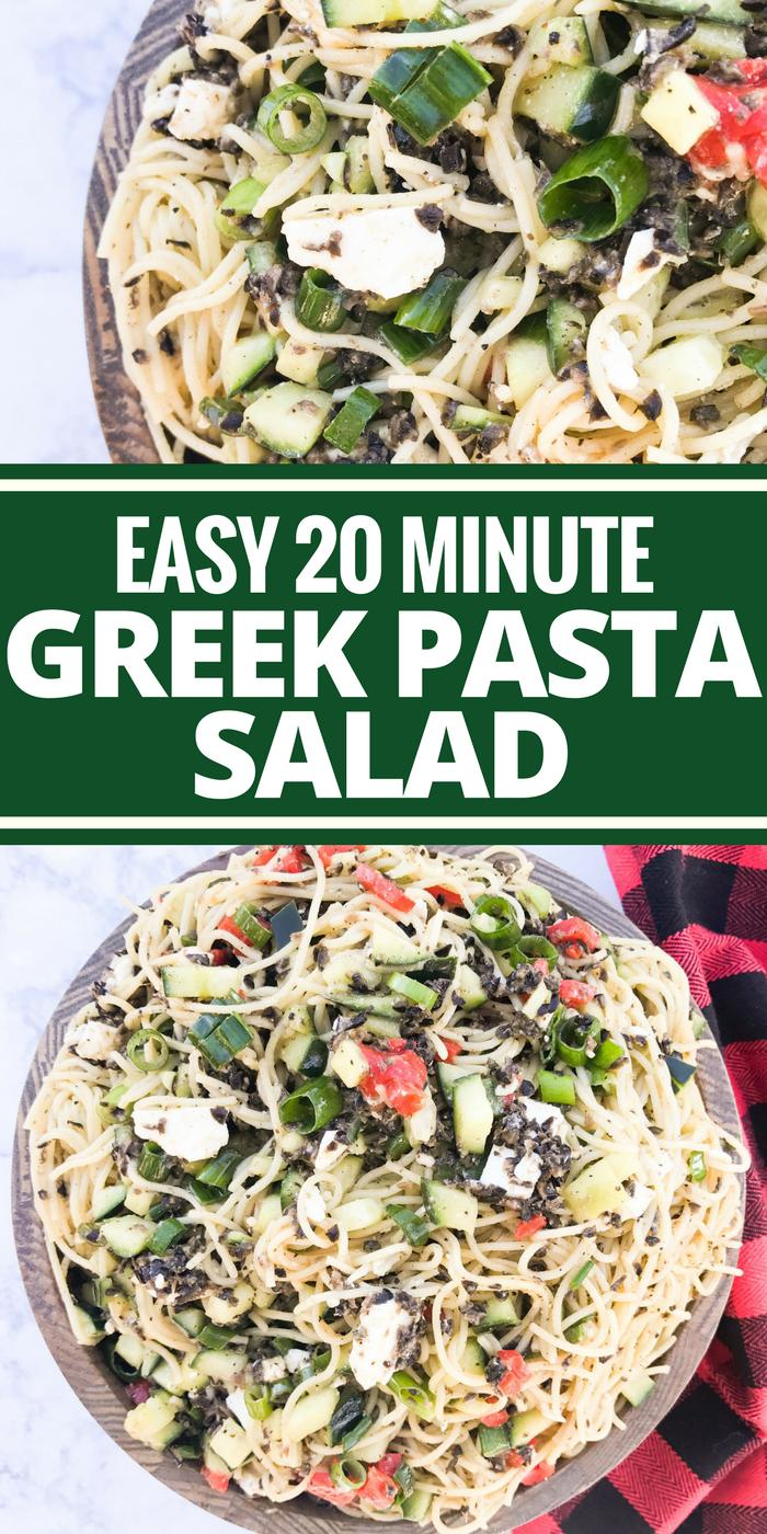Easy 20 Minute Greek Pasta Salad by The Whole Cook