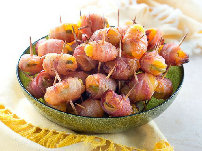 Bacon Wrapped Apricots with Jalapenos by Delicious Meets Healthy