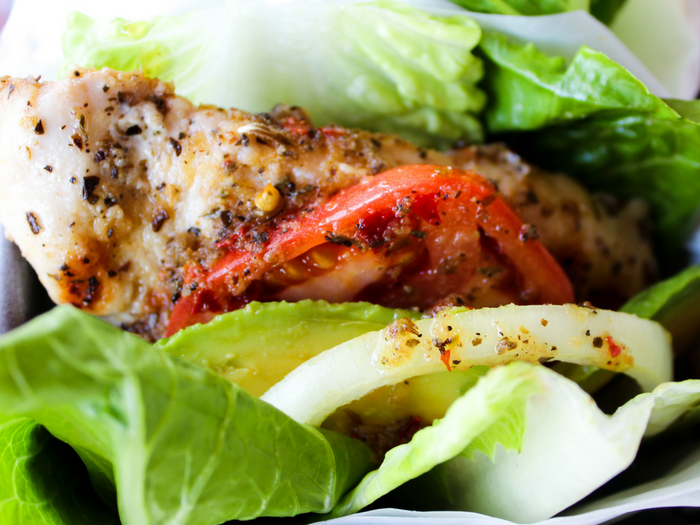 Italian Marinated Chicken Lettuce Wraps by The Whole Cook horizontal