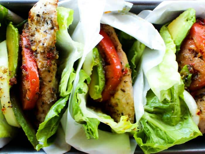 Italian Marinated Chicken Lettuce Wraps by The Whole Cook horizontal(1)