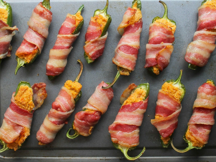 Paleo Jalapeno Poppers with Cashew Cream by A Saucy Kitchen