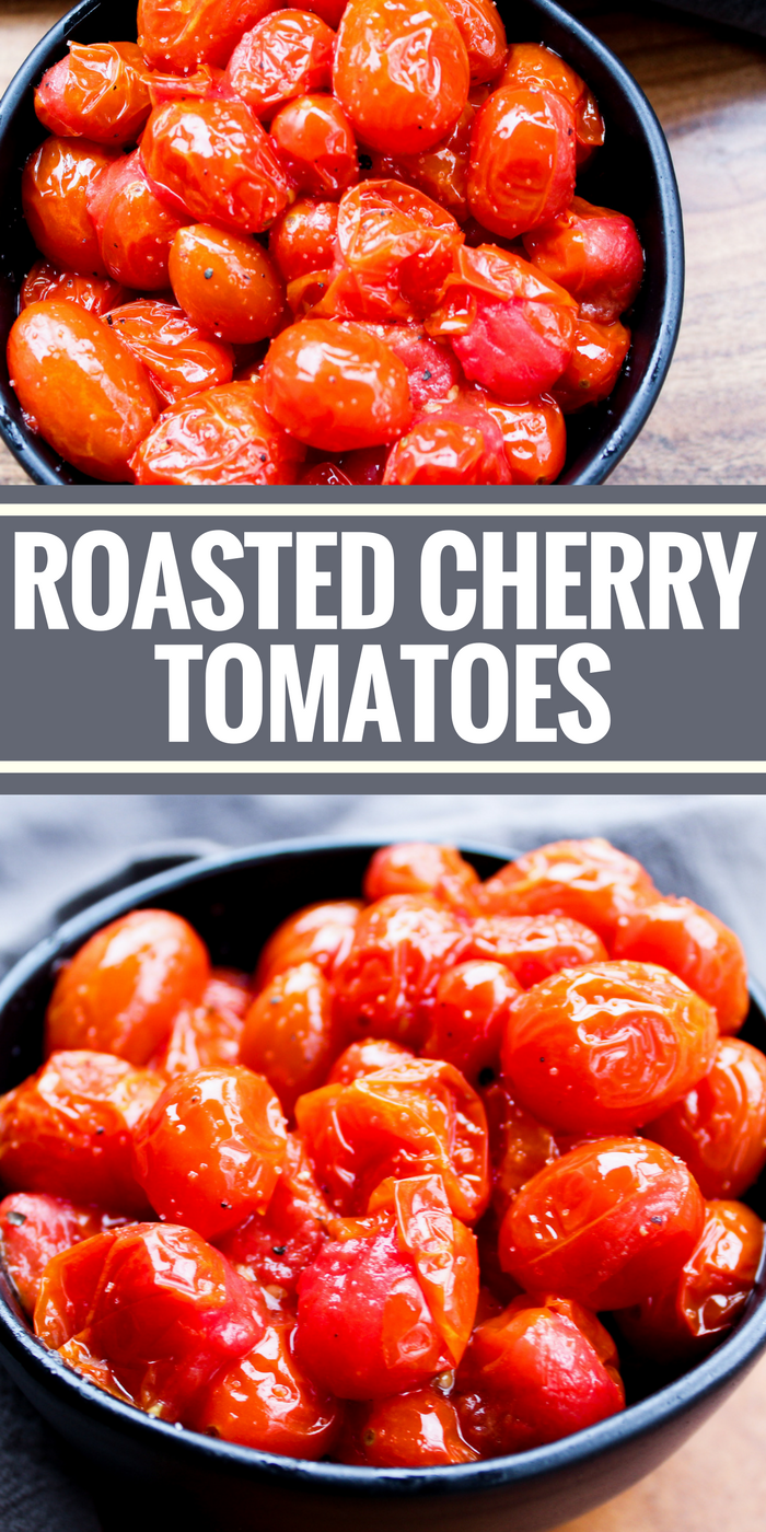 Roasted Cherry Tomatoes are a naturally sweet addition to any dish! Add them to pasta, eggs, avocado toast, there's so much you can do!