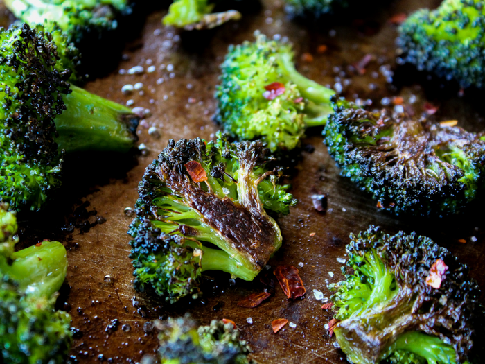 Spicy Roasted Broccoli by The Whole Cook horizontal up close