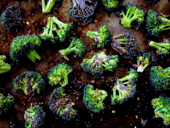 Spicy Roasted Broccoli by The Whole Cook horizontal up close(1)