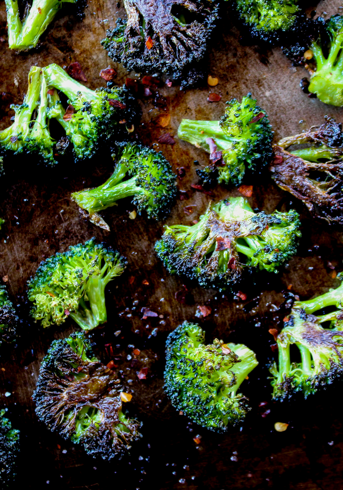 Spicy Roasted Broccoli by The Whole Cook vertical