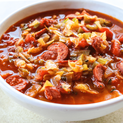Spicy Sausage Cabbage Soup The Whole Cook