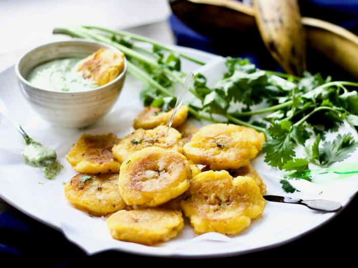 Tostones with Garlic Cilantro May by Yang's Nourishing Kitchen