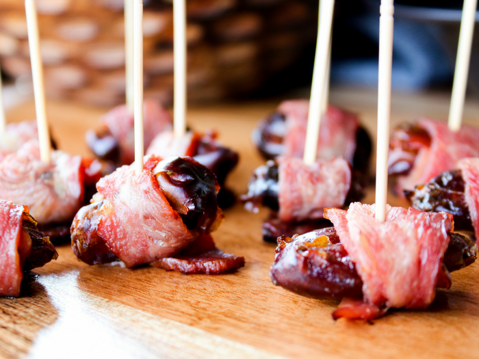Turkey Bacon Wrapped Dates by The Whole Cook(1)