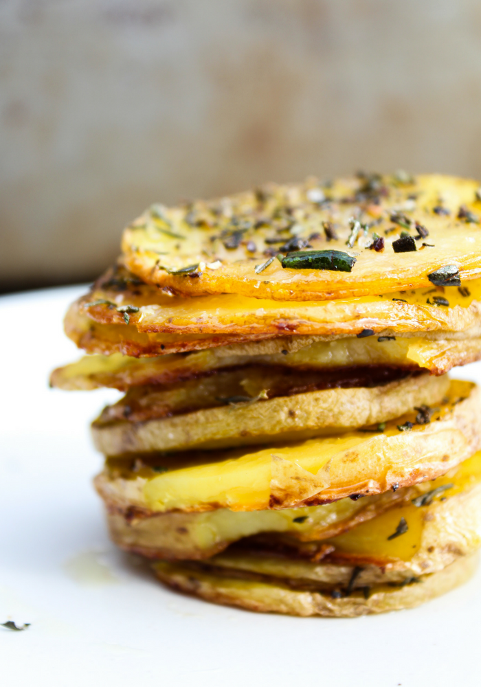 Baked Herb Potato Rounds by The Whole Cook vertical