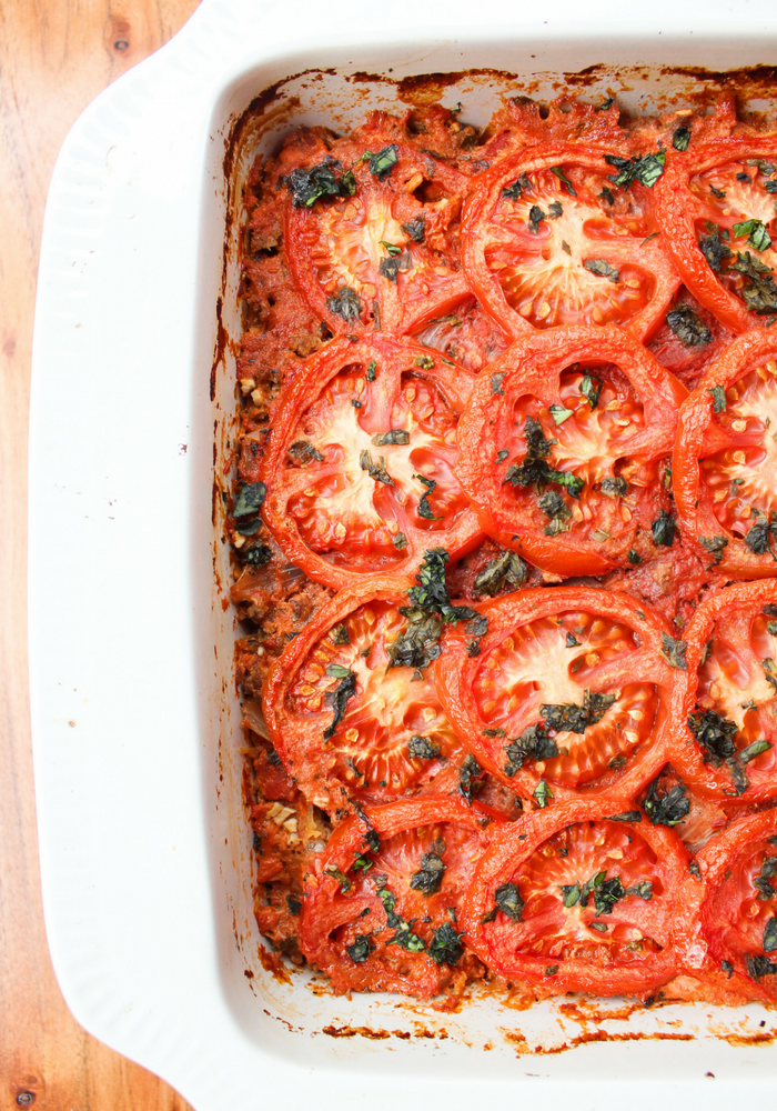 Baked Spaghetti Casserole by The Whole Cook vertical