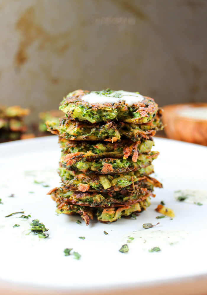 Broccoli Potato Cakes by The Whole Cook vertical