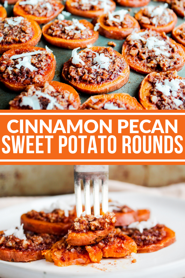 Cinnamon Pecan Sweet Potato Rounds are a naturally sweet and very rich side dish. They taste a lot like a sweet potato casserole but they're healthier and sugar free!