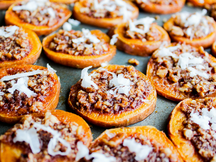 Cinnamon Pecan Sweet Potato Rounds by The Whole Cook horizontal