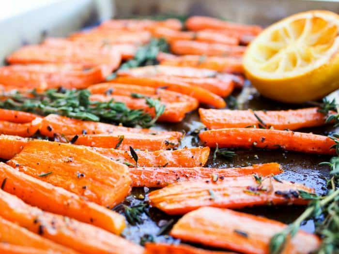 Lemon & Thyme Roasted Carrots by The Whole Cook horizontal