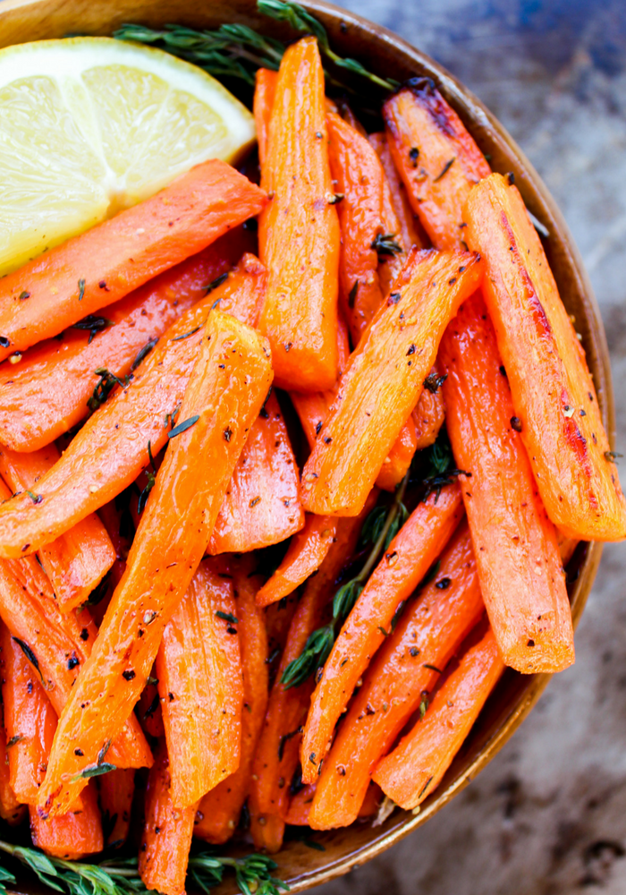 Lemon & Thyme Roasted Carrots by The Whole Cook vertical