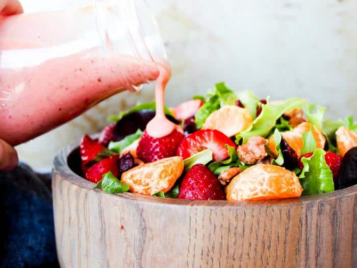 Strawberry Basil Dressing by The Whole Cook horizontal