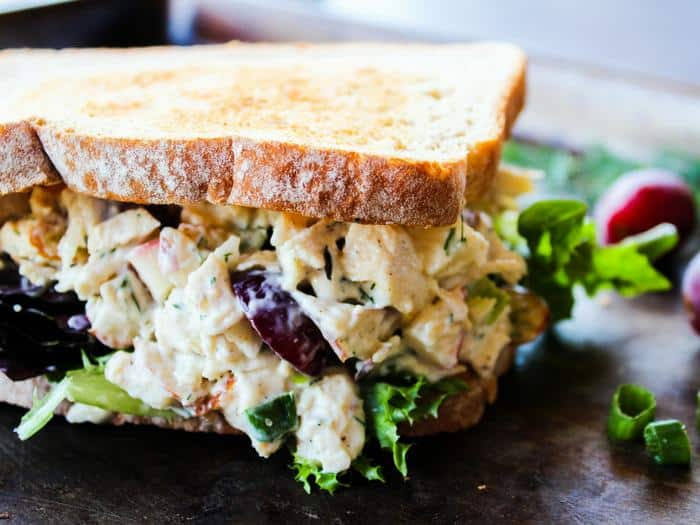 Ultimate Chicken Salad by The Whole Cook horizontal sandwich
