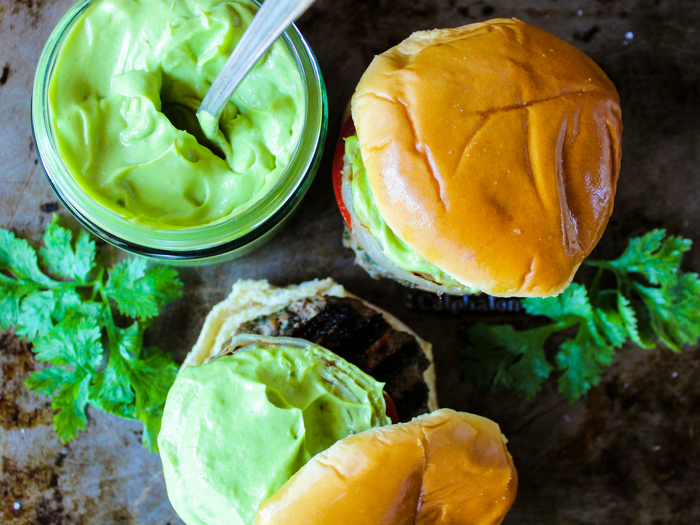 Cilantro Turkey Burgers with buns by The Whole Cook horizontal
