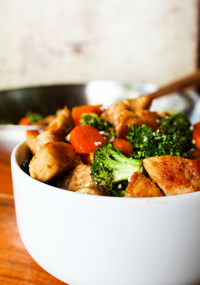 Easy Chicken & Broccoli Stir Fry by The Whole Cook vertical