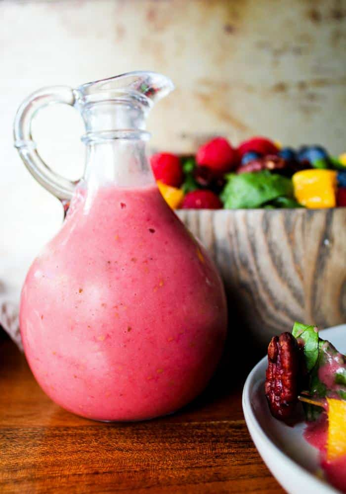 Raspberry Mint Dressing by The Whole Cook vertical