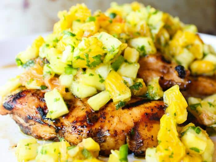 Tropical Salsa Grilled Chicken by The Whole Cook horizontal