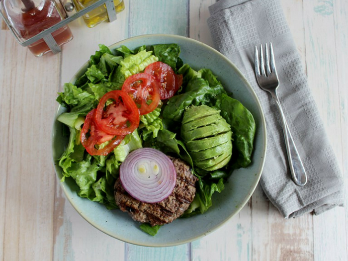 California Burger Bowl by Simple and Savory