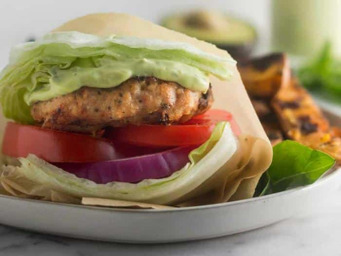 Sun Dried Tomato Chicken Burgers by Eat the Gains