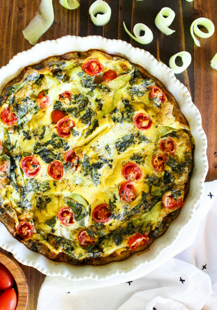 Crustless Summer Vegetable Quiche vertical by The Whole Cook(1)