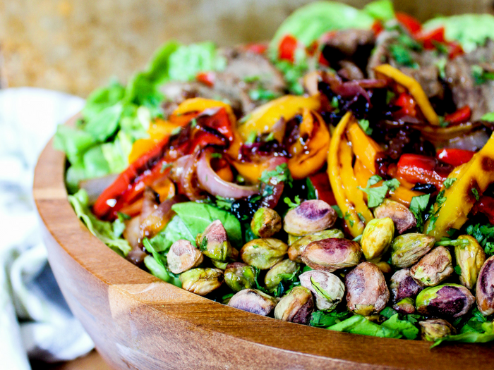 Southwestern Steak Salad with Lime Vinaigrette horizontal by The Whole Cook(2)