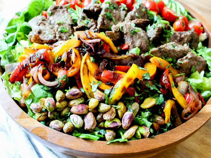 Southwestern Steak Salad with Lime Vinaigrette horizontal by The Whole Cook(3)