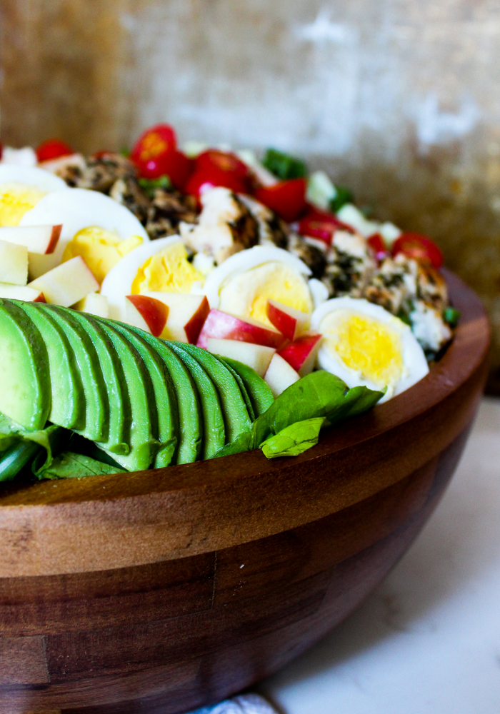 Lemon Chicken Cobb Salad vertical by The Whole Cook