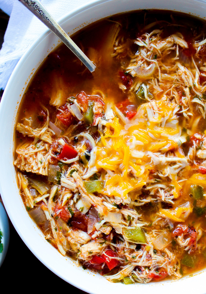 Slow Cooker Chicken Fajita Soup The Whole Cook
