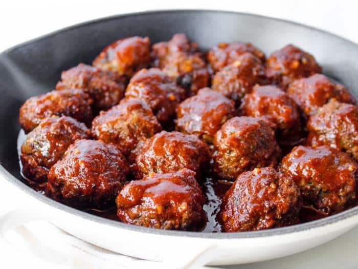 Man vs food recipes meatballs Barbecue Meatballs The Whole Cook