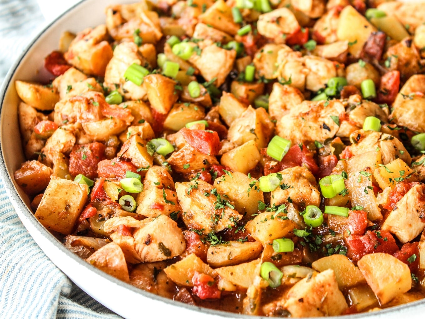 Green Chile Chicken Potato Skillet The Whole Cook